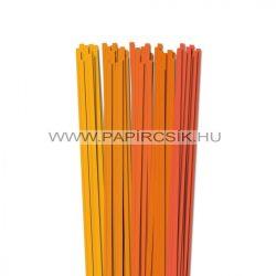 Orange Farbton, 6mm Quilling Papierstreifen (5x20, 49 cm)