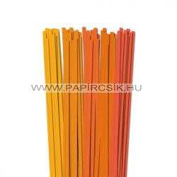 Orange Farbton, 7mm Quilling Papierstreifen (5x20, 49 cm)