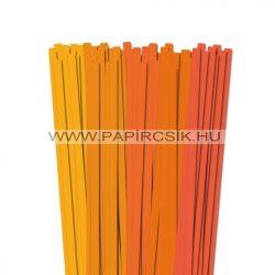 Orange Farbton, 10mm Quilling Papierstreifen (5x20, 49 cm)