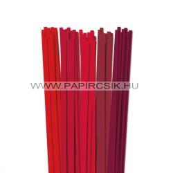 Rot Farbton, 7mm Quilling Papierstreifen (5x20, 49 cm)