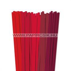 Rot Farbton, 10mm Quilling Papierstreifen (5x20, 49 cm)