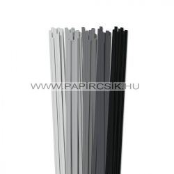 Grau Farbton, 6mm Quilling Papierstreifen (5x20, 49 cm)