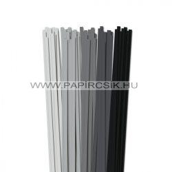 Grau Farbton, 7mm Quilling Papierstreifen (5x20, 49 cm)