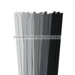 Grau Farbton, 10mm Quilling Papierstreifen (5x20, 49 cm)