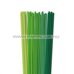 Grün Farbton, 6mm Quilling Papierstreifen (5x20, 49 cm)