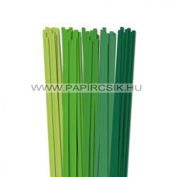 Grün Farbton, 7mm Quilling Papierstreifen (5x20, 49 cm)