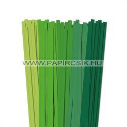 Grün Farbton, 10mm Quilling Papierstreifen (5x20, 49 cm)