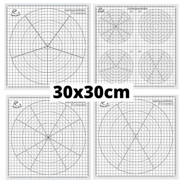 Quilling Schablonen Papier – 30 Grad Aufteilung (1 Stück, 30 x 30 cm)