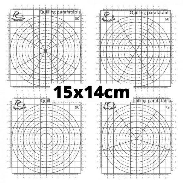 Quilling Schablonen Papier – 30 Grad Aufteilung (1 Stück, 15 x 14 cm)